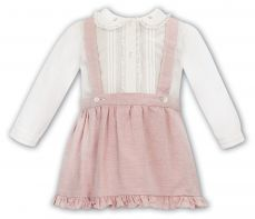 Sarah Louise Girls Winter Two Piece Set Ivory & Apricot 012114