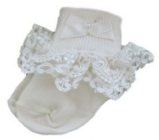 Pex Willow Ivory Lace Socks