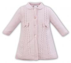 Sarah Louise Pink Knitted Coat 008063