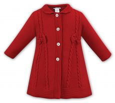 Sarah Louise Red Knitted Coat 008063