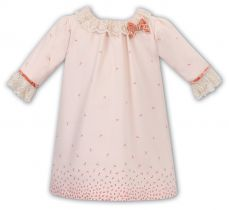 Sarah Louise Girls Winter Peach 3/4 Sleeve Dress 011716