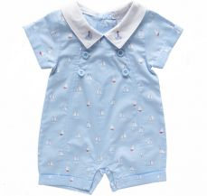 Kris X Kids My Little Boat Boys Romper 4034A