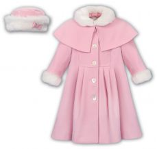 Sarah Louise Heritage Collection Winter Coat Pink C9500