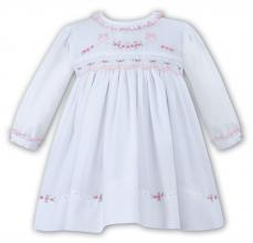 Sarah Louise White Winter Dress With Bow Embroidery 010884