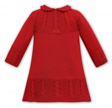 Sarah Louise Winter Knitted Dress Red 008136