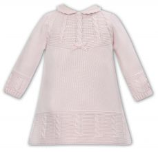 Sarah Louise Winter Knitted Dress Pink 008136