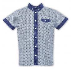 Sarah Louise Boys Summer Patterned Shirt 010731