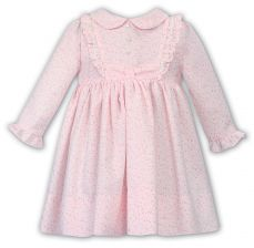 Dani by Sarah Louise Girls Winter Pink Floral Dress D09365