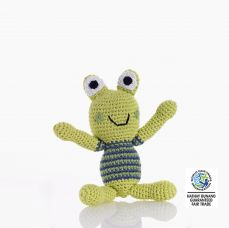 Best Years Crochet Frog Boy Rattle