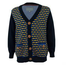 Little Lord & Lady Elliot Geometric Cardigan