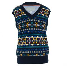Little Lord & Lady Little Treasure David Fairisle Knitted Tank