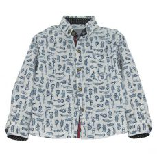 Little Lord & Lady Harrison Bespoke Print Musical Print Shirt