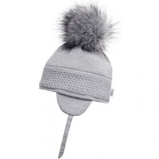 Sätila Faux Fur Pom-pom Hat Daisy Light Grey