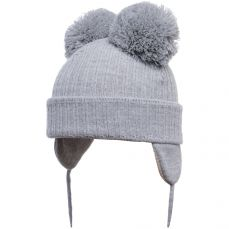 Satila Double Pom-pom Hat Minnie Light Grey