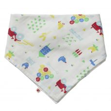 Piccalilly Farmyard Muslin Bandana Bib & Burp Cloth