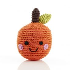 Best Years Pebble Friendly Fruit Rattle Orange