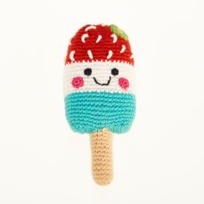 Best Years Pebble Friendly Ice Lolly Red, White & Blue Rattle