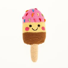 Best Years Pebble Friendly Ice Lolly Pink, Yellow & Brown Rattle