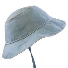 Powell Craft Blue Linen Hat
