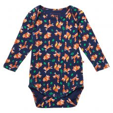Piccalilly Fox Print Baby Body