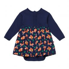 Piccalilly Fox Print Baby Body Dress