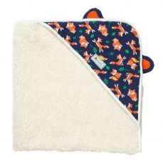 Piccalilly Fox Print Sherpa Hooded Shawl