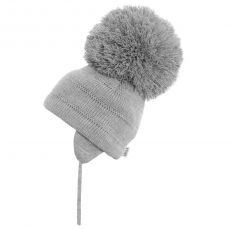 Sätila Big Pom-pom Hat Tuva Light Grey