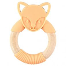 Nibbling Flex Fox Teething Ring Orange