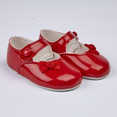 Early Days Baypod Girls Pram Shoe Red B616