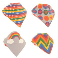 Ziggle Baby Bandana Dribble Bib 4 Pack Rainbow Colours