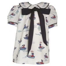 Little Lord & Lady Little Treasure Henrietta Boat Blouse