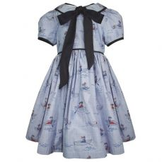 Little Lord & Lady Little Treasure Hermione Chambray Boat Dress