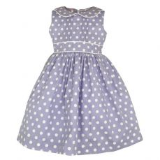 Little Lord & Lady Little Treasure Evelyn Periwinkle Spot Dress