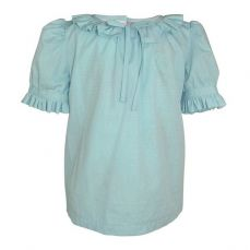 Little Lord & Lady Margot Blue Frill Blouse