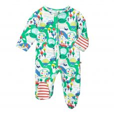 Piccalilly Malham Farm Footed Sleepsuit