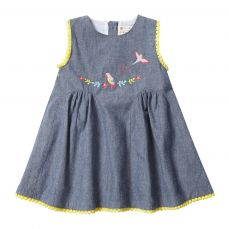 Piccalilly Tropical Chambray Baby Dress