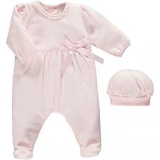 Emile et Rose 'Karly' Pink All In One With Hat