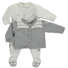 Emile et Rose 'Lionel' All in One With Grey Cardigan