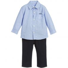 Losan Boys Pale Blue Shirt & Trouser Set