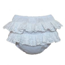 Petit Bebe White Frilly Knickers 18562