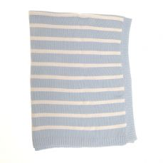 Ziggle Baby Blanket Blue And White Stripes