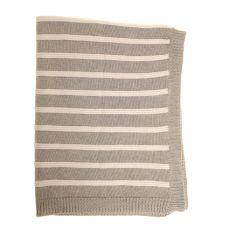 Ziggle Baby Blanket Grey And White Stripes