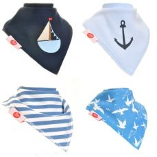 Ziggle Baby Bandana Dribble Bib 4 Pack Nautical