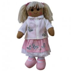Powel Craft Rag Doll Pink Dress With Cardigan