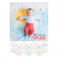 Lulujo Babys First Year Cotton Swaddle And Cards You Are My Sunshine