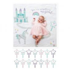 Lulujo Babys First Year Cotton Swaddle And Cards Something Magical
