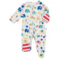 Piccalilly Party Elephant Footed Sleepsuit