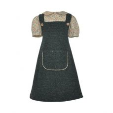 Little Lord & Lady Rosemary Moss Pinafore And Blouse Set