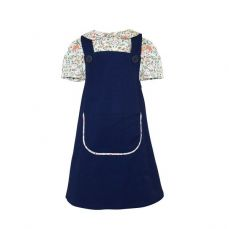 Little Lord & Lady Rosamund Blue Pinafore And Blouse Set