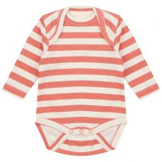 Piccalilly Spicy Orange Stripe Baby Bodysuit